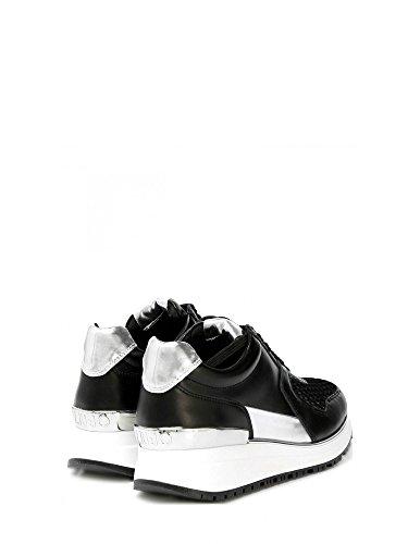 liu jo , Damen Sneaker schwarz nero e argento Schwarz