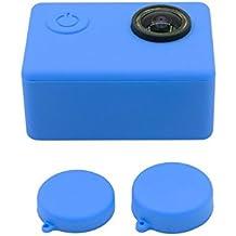 Goma suave silicona Carcasa protectora Shell + tapa de objetivo para SJCam SJ4000SJ5000SJ7000SJ9000Cámara