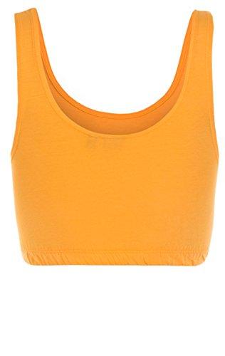 Eight2Nine Damen Tanktops Crop Top / Kurztop Tops 15824 middle orange (11300)