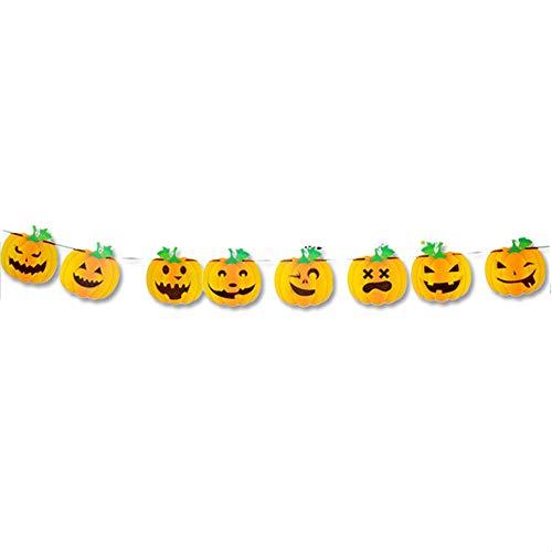 SHARPTON DIY Halloween Banner,Kürbis Bunting Flagge Hängenden Ghost Decor für Festival Karnevalsparty Bar Zubehör Dekoration Party Requisiten 300cm 1 Stück