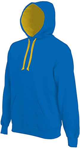 Kariban -  Maglione  - Basic - Maniche lunghe  - Uomo Light Royal Blue-Yellow