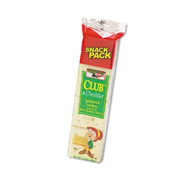 Sandwich Cracker, Club & Cheddar, 8-Cracker Snack Pack, 12 Packs/Box, Sold as 1 Box (Cracker Snack-packs)