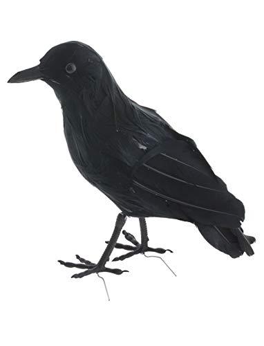 erdbeerparty - Halloween Dekoration, Deko großer Rabe, 23cm, Black Raven, ideal für Jede Halloween Party / Feier, Schwarz
