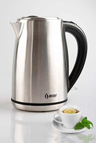 Edelstahl Wasserkocher BeLeaf - Teekocher - 1,7 Liter