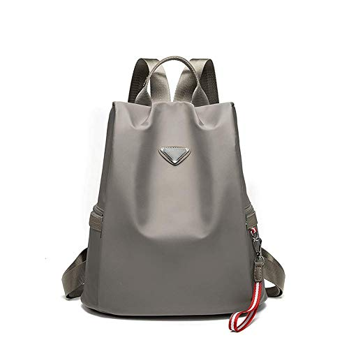 Wanderrucksack Camping Daypack Tasche mit Solar Power Board und Laptop Rucksack für Laptop mit USB-Ladeanschluss Abwehrend Schule Reisen Casual Daypack Reisen Laptop Slim Lightweight Bag Gr. 42, grau