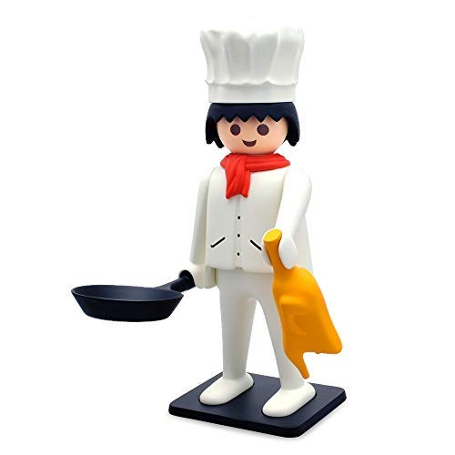 Plastoy - Playmobil Nostalgia colección: Cocinero - Estatua [25 cm]