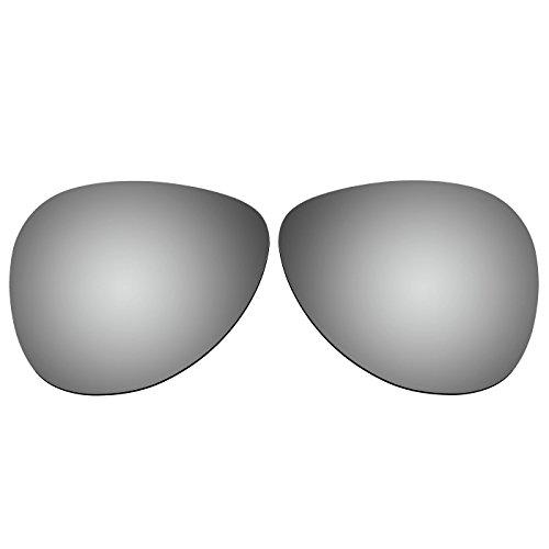 ACOMPATIBLE Ersatz-Objektive für Oakley Daisy Chain Sonnenbrille OO4062, Titanium Mirror - Polarized