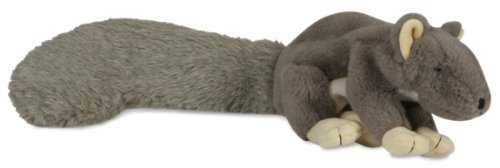urable Squeaky Lil Feller Squirrel Dog Toy, Small by HuggleHounds ()