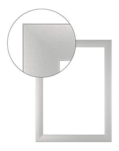 11x14 (Olimp PRORSUS 35 mm Bilderrahmen nach Maß für 14 x 11 cm Bilder Farbe Silber matt inkl Anti-Reflex Kunstglasscheibe)