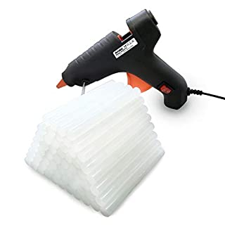 Amdai 60W Midi (full size) Electric Glue Gun Hot Melt with Trigger PLUS 60 x 11mm Glue Sticks for Hobby, Craft, Mini, Metal, Wood, Glass, Card, Fabric, Plastic, Ceramics