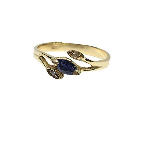 luppino gioielli Anello Donna Oro Giallo 18 kt 750 con Zaffiro 0,15 ct e Diamanti 0,01ct Prezzo su