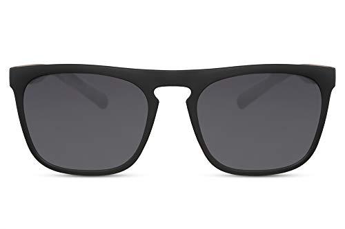 Cheapass Sonnenbrille Matt-Schwarz Getönte Linsen UV-400 Sport-liche Designer-Brille Plastik Damen Herren