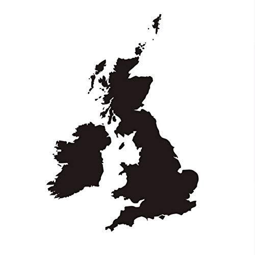 Zxfcczxf Die Großbritannien Karte Wasserdichte Wandaufkleber Wohnzimmer Pvc Abnehmbare Selbstklebende SchlafzimmerWandtattoos Wohnkultur 58 * 83 Cm