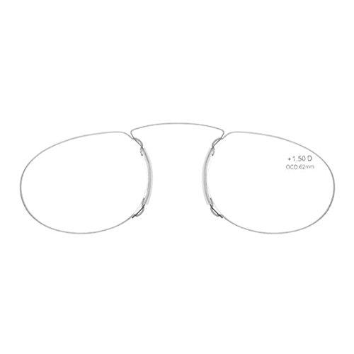 Occhiali da lettura JAMMYLIZARD RetroSpecs Occhiali Unisex Ultra Slim senza Stanghette Correzione Diottrie con Custodia Compatta Portatile