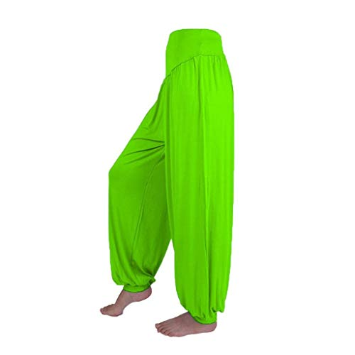 Pants Harem Yoga Pilates Sarouel Femmes Pantalon Fluide Femme SANFASHION(Vert Chic Fluide,XL)