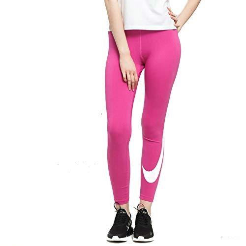 Nike Damen Legasee Legging Swoosh, Active Fuchsia/White, L Fuchsia Leggings