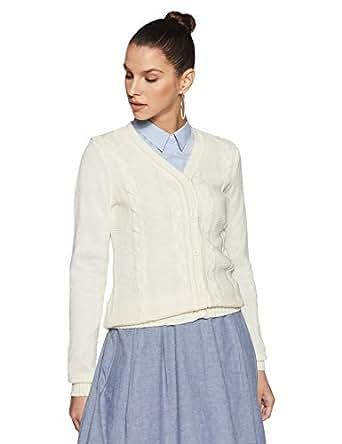 DJ&C By fbb Women's Pullover (1001212710_Off White_XXL)