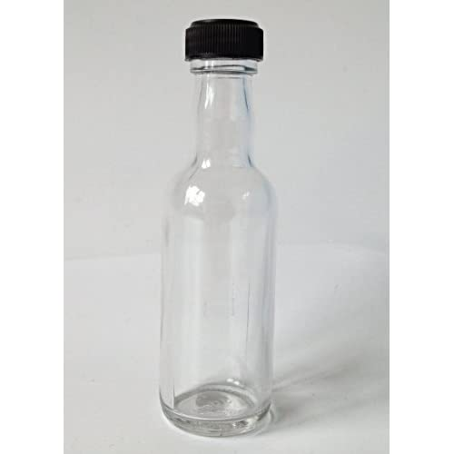 31coz0OqpqL. SS500  - Nutley's 50ml Miniature Glass Spirit Bottle with Screw Top - Black (Pack of 12)