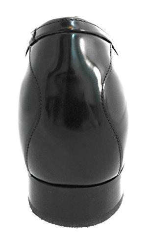 Le Scarpe Zerimar Per Uomo Aumentano In Modo Invisibile Le Loro Dimensioni Corporee, Aumentano Laltezza, Sollevano Il Tallone Nascosto, Aumentano La Loro Altezza Fino A + 7 Cm 100% Pelle Nera Florida