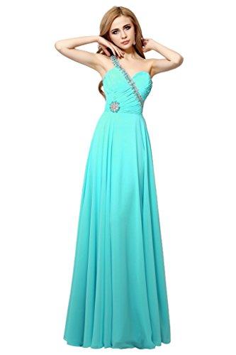 Promgirl House Damen Equisite Chiffon A-Linie Abendkleider Ballkleider Lang Festkleider Partykleider 2015 Jaegergruen
