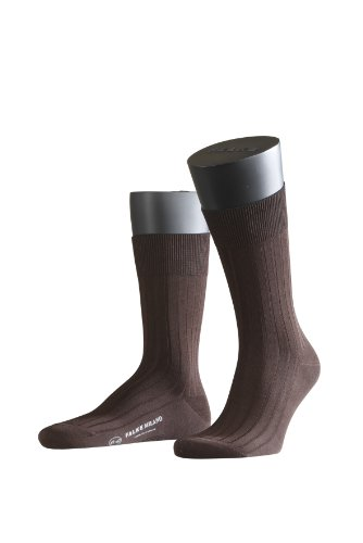 FALKE Herren Socken 14683 Milano Business SO, Gr. 41/42, braun (brown 5930)