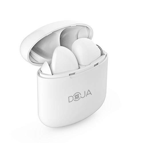 DOJA Barcelona | Bluetooth 5.0 Kopfhörer In Ear Wirless | Model i9 X Weiß | Bessere Klangqualität und Akkulaufzeit Headsets Hörer Ohrhörer Kopfhorer für iPhone Ipad Samsung Xiaomi Nokia Android -