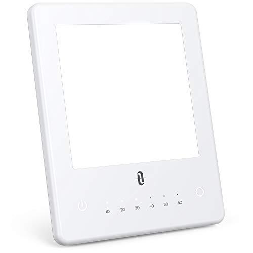 Tageslichtlampe 10000 Lux TaoTronics LED Lichttherapie Tageslichtlampen UV-frei Tageslicht Daylight Lampe mit 3 einstellbare Helligkeitsstufen, 10-60 Min Timer Einstellung, Ausgleich von Lichtmangel