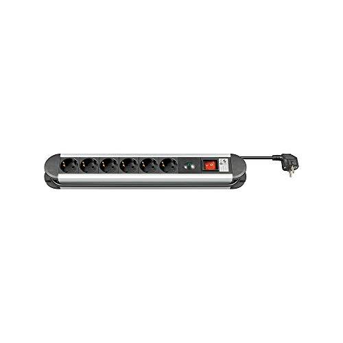 Goobay 93001 Steckdosenleiste mit Überspannungsschutz 1, 4 m, 6x Schutzkontaktbuchse, Mit Überspannungsschutzanzeige