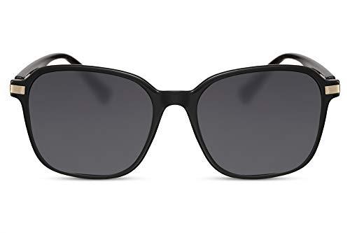Cheapass Sonnenbrille Schmetterling Schwarz UV-400 Über-Groß X-XL Designer-Brille Plastik Damen Frauen