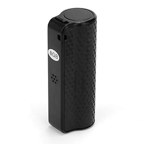 Electz Sprachaufzeichnung mit sprachaktivierter Funktion [Schwarz], tragbares Mini-Diktiergerät, 32 GB, 48-Stunden-Speicher, Audio-Aufnahmegerät mit integriertem Mikrofon, MP3-Lautsprecher,32GB (Kassette Speicher-schublade)