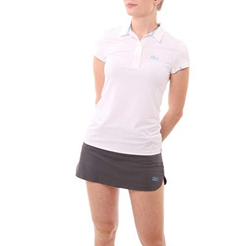 Sportkind Mädchen & Damen Tennis/Golf/Sport Poloshirt, weiss, Gr. L