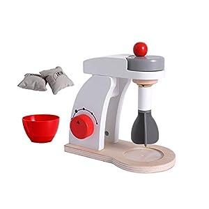 TrifyCore Holz Küche Food Mixer Spielzeug Spielend Köstliches Mighty Mixer Spielen Küchenzubehör für Kleinkinder Kostüm Rollenspiele Schule Klassenzimmer pädagogisches Spielzeug 1Set