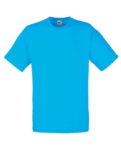 Fruit of the Loom Herren Valueweight Crew Neck, Short Sleeve T-Shirt, Nicht V Hals. Azure Blue