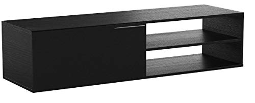 Habitdesign 006670G - Mueble comedor televisor bajo, color gris ceniza