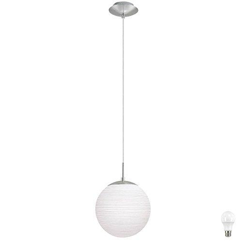 Pendel Leuchte Beleuchtung Decken Licht Hänge Glas Kugel Lampe im Set inklusive LED Leuchtmittel