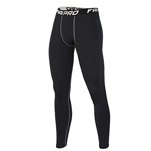 FantaisieZ Pantalons Homme Serré Collants Aptitude SurvêTement Yoga AthléTique Gym Trousers Sports ÉLastique Pants Hommes Noir M-3XL Grande Taill