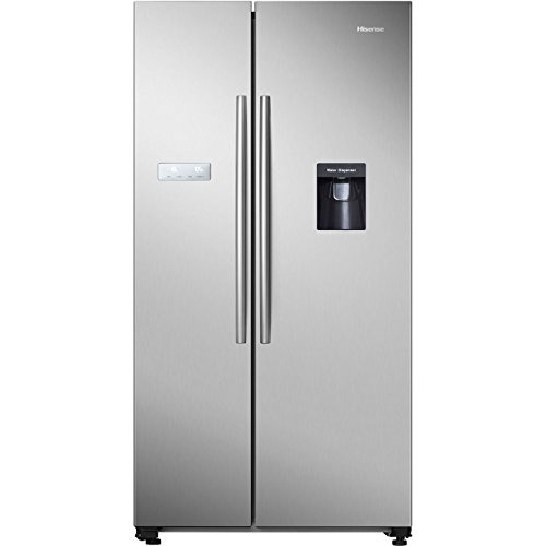 Hisense RS741N4WC11 Freestanding A+ Rated American Fridge Freezer -Stainless Steel Best Price and Cheapest