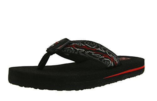 Teva Mush II Y's Unisex-Kinder Sport- & Outdoor Sandalen, Schwarz (Wood Stripes Black M 960), 33.5