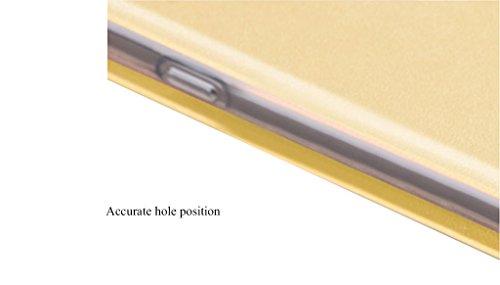 iPhone X Flip Schutzhülle - Star-Muster PU Lederhülle Folio Hülle (Abdeckung Eingebaute Stahl Flake ) TPU Transparent Unterseite für iPhone X - Weiß Gold