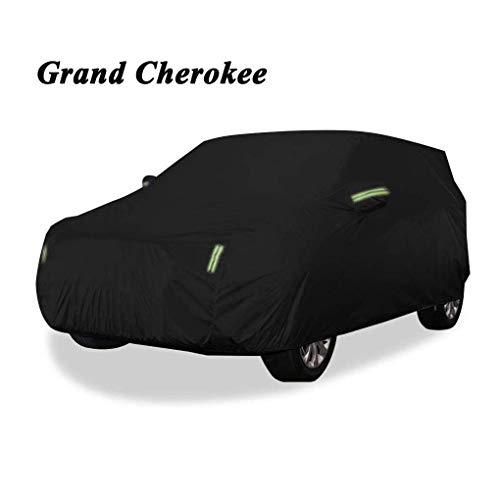POLKMN Autoabdeckung Auto Abdeckplane Kompatibel mit Jeep Grand Cherokee, wasserdichte Auto-Kleidung atmungsaktiv Sunproof Spezial-Schutzhülle, for großen oder mittleren SUV Winter