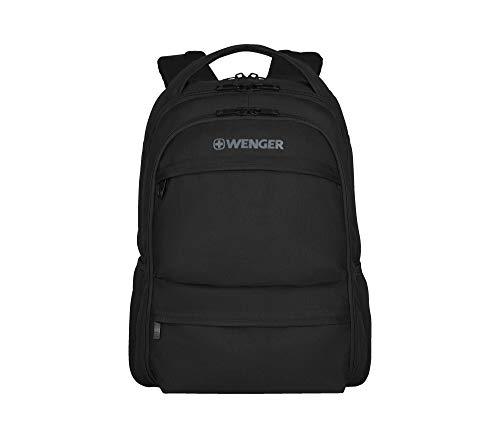 """Wenger 600630 Fuse 16"""" Laptop Backpack, compartiment pour ordinateur portable rembourré avec iPad/tablette / eReader de poche en noir {16 Litres}"""