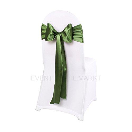 event-textil-markt 100 x Satin Stuhlschleifen Stuhlschärpe Schleifenbänder Tischläufer 45 FARBEN tiffany