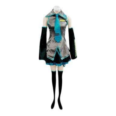(VOCALOID,Hatsune Miku Cosplay Kostüm, Größe M:Höhe 158-163CM,Gewicht 45-50 kg)