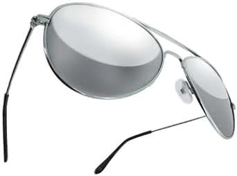 Premium Quality RealGLASS Aviator Mirror Lens Sunglasses, Sun Glasses Retro Full Mirrored Glass Lenses