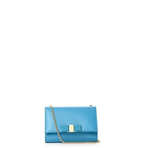 Salvatore Ferragamo Luxury Fashion Donna 656939 Azzurro Borsa A Spalla | Autunno Inverno 19