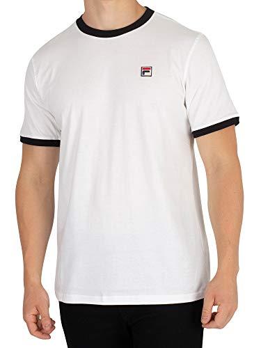 Fila Vintage Herren Wesentliche Vintage T-Shirt, Weiß, X-Large (Vintage Shirt Fila)