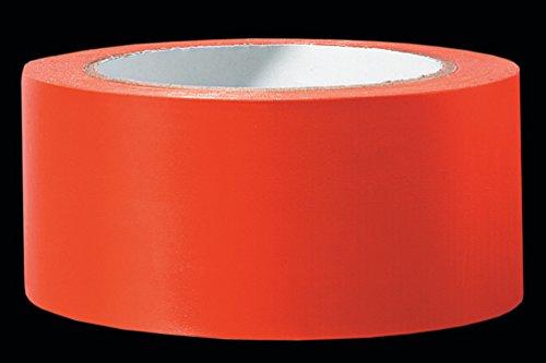 PVC Schutzband PROFI glatt orange 50 mm x 33 m Klebeband Putzerband Putzband für glatte und leicht raue Untergründe
