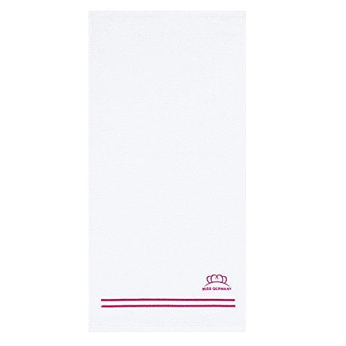 """Offiziell lizenzierte """"Miss Germany Kollektion"""" - Egeria Frottiertücher aus 100 % Hochwertiger Baumwolle - Pink 70 x 140 cm"""