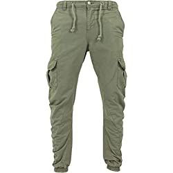 Urban Classics Herren Hose Cargo Jogging Pants, Grün (Olive), XXL