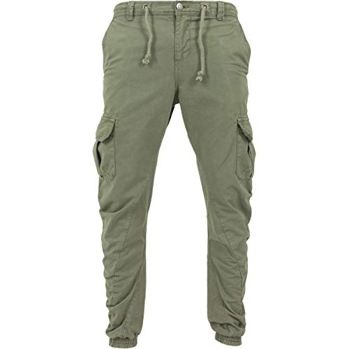 Urban Classics Herren Hose Cargo Jogging Pants Grün (Olive) M